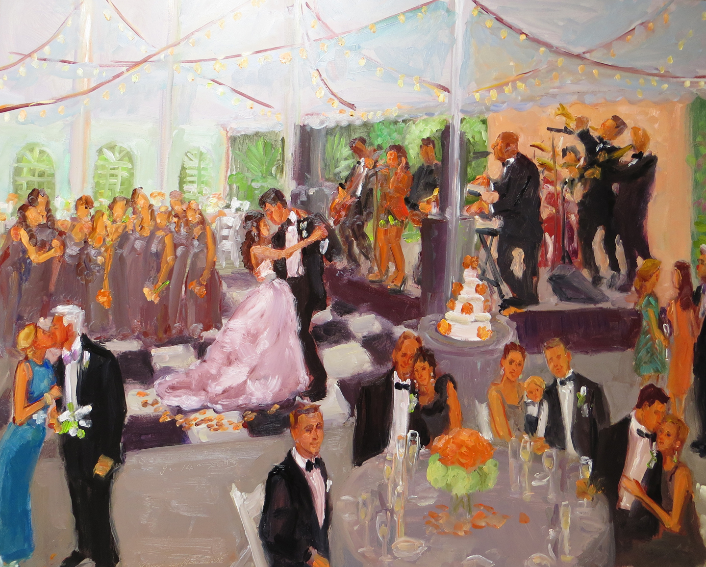 Live Event Painting At A Wedding The White Hall In Louisville Ky By Joan