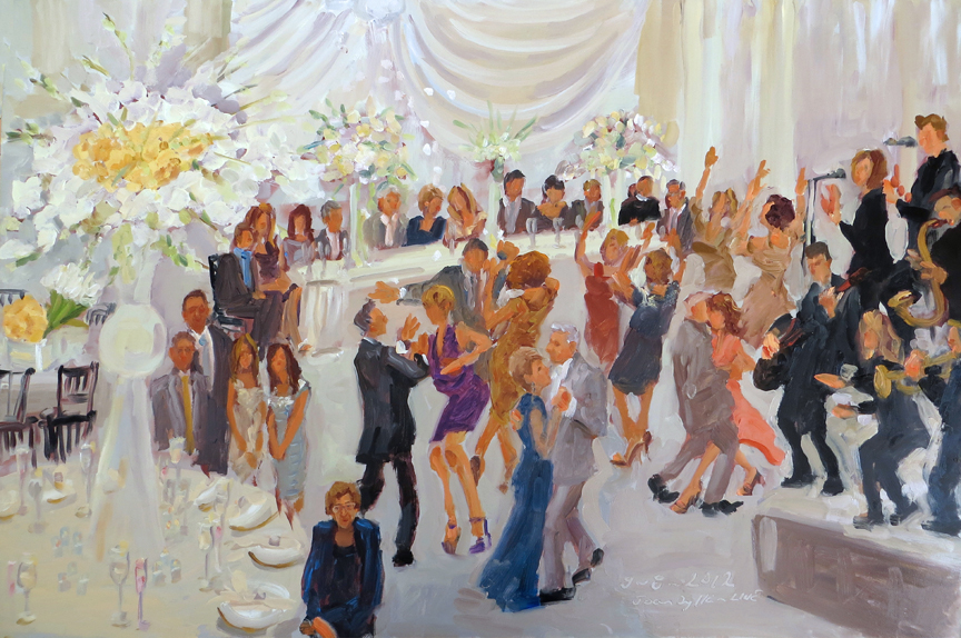 anniversary parties painted live by live event artist joan zylkin