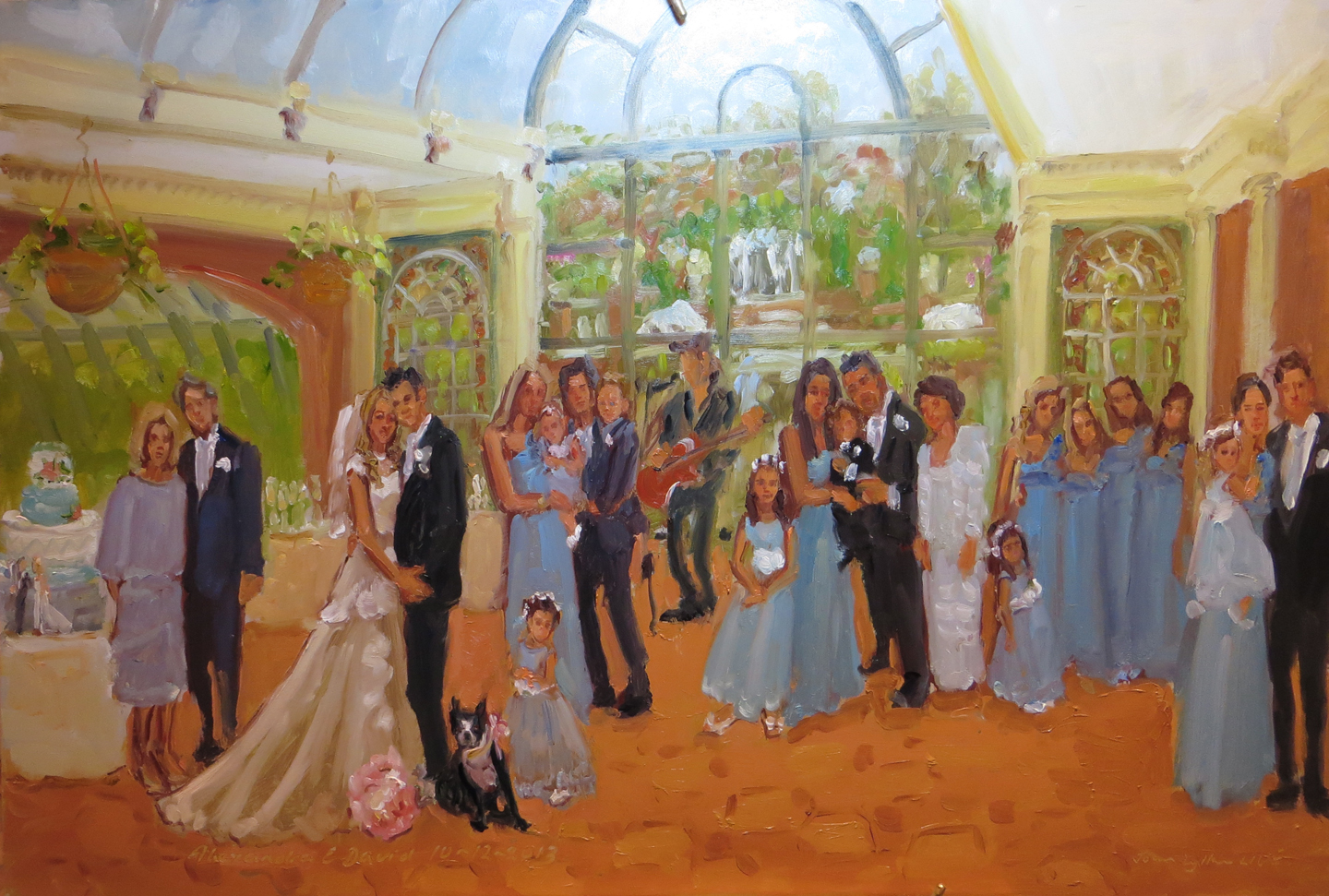 afternoon wedding painted at the manor west orange nj