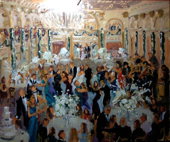 Wedding Painting at The Ballroom at The Ben, Philadelphia