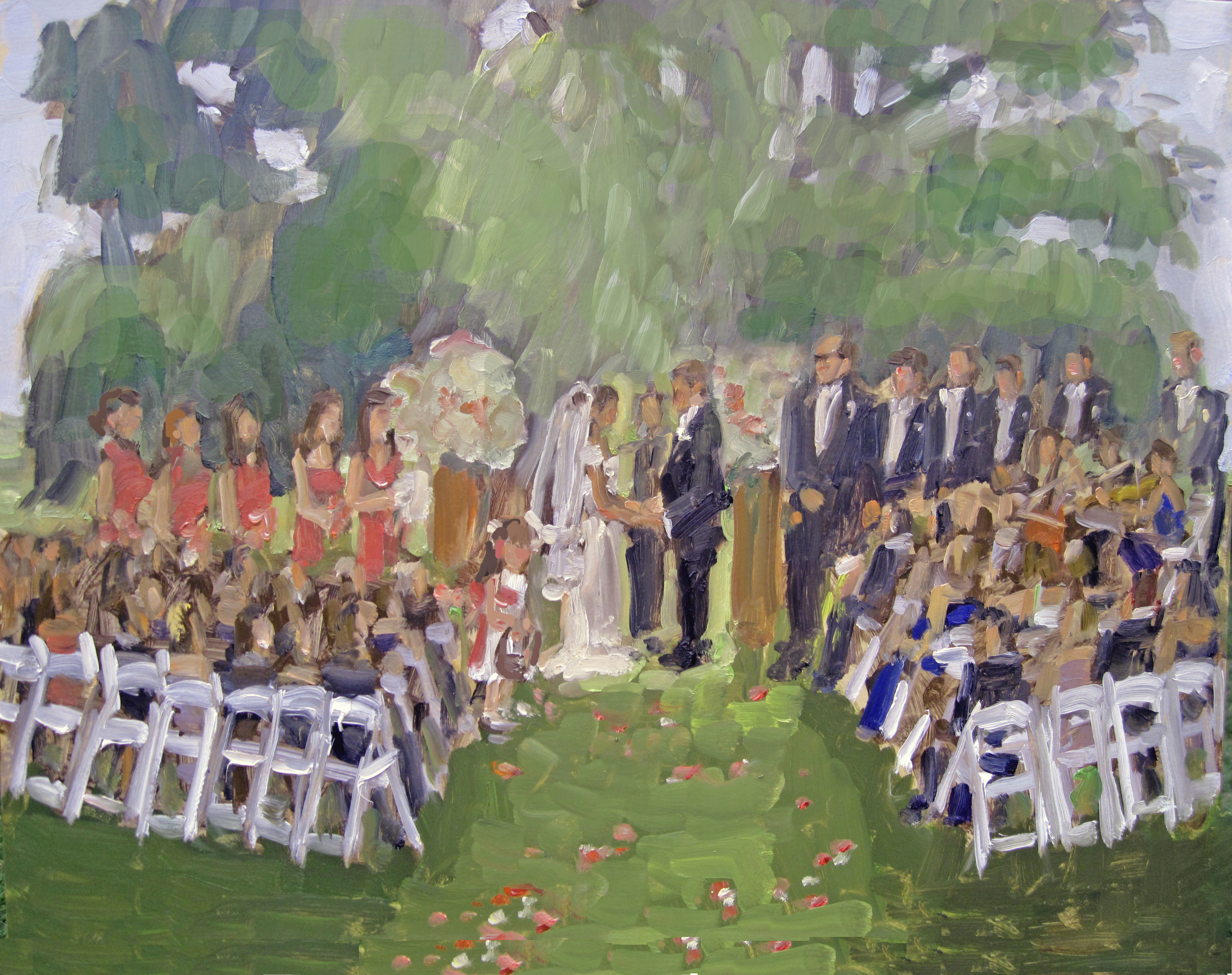 Brooklyn Botanic Gardens Wedding Painting Joan Zylkin The Event